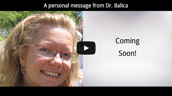 A personal message from Dr. Balica